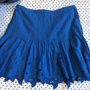 Blue j.crew skirt